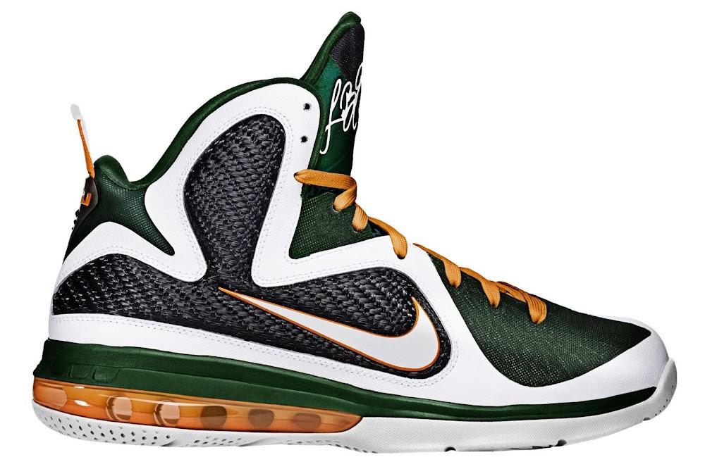 Upcoming Nike LeBron 9 8220Miami Hurricanes8221 Home Edition ... 5d87c49cbf