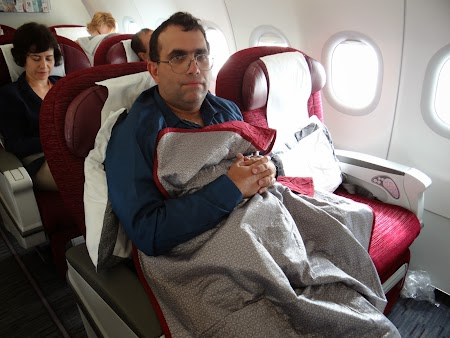 15. Qatar Airways business class.JPG