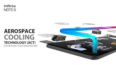 InfinixNOTE3 Aerospace Cooling Technology ACT Far Beyond Your Imagination
