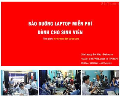 Thông báo: Vệ sinh Laptop MIỄN PHÍ