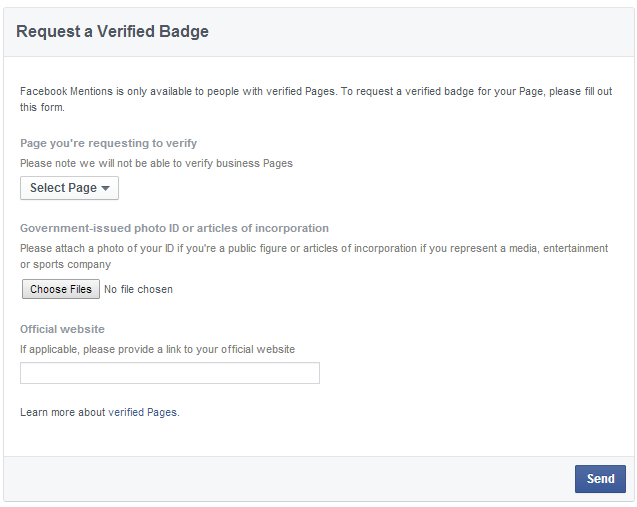 Facebook-Request-A-Verified-Badge-Form