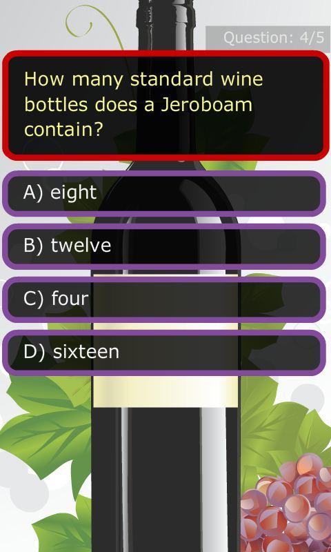 Wine Knows trivia- screenshot