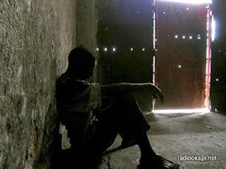 Un détenu à la prison Munzenze de Goma.