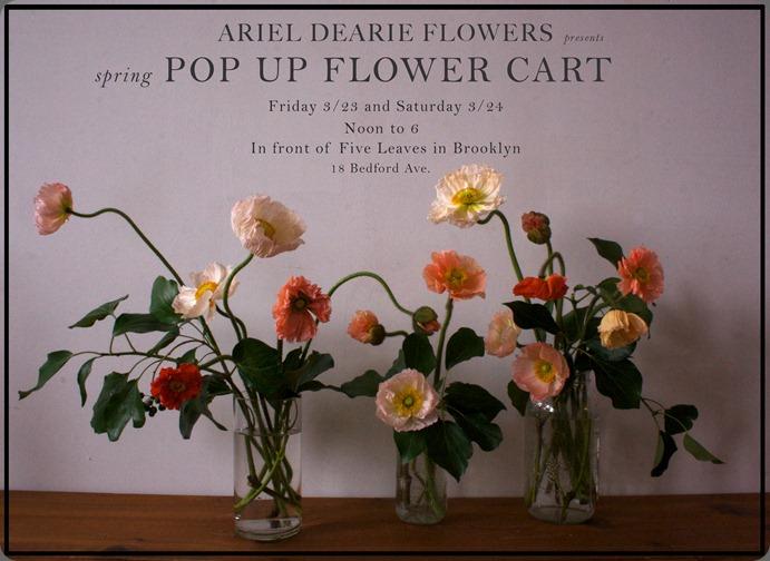 pop up Flower Cart