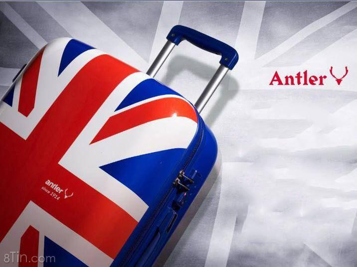 Antler Union Jack Luggage A805 ✈Top 10 Thương hiệu vali hàng đầu