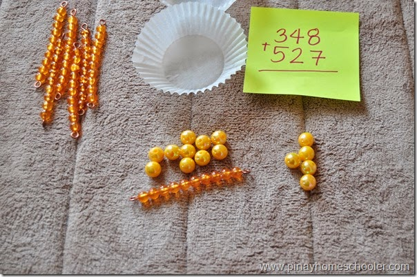 DYNAMIC ADDITION USING MONTESSORI GOLDEN BEADS (REGROUPING OF ONES)