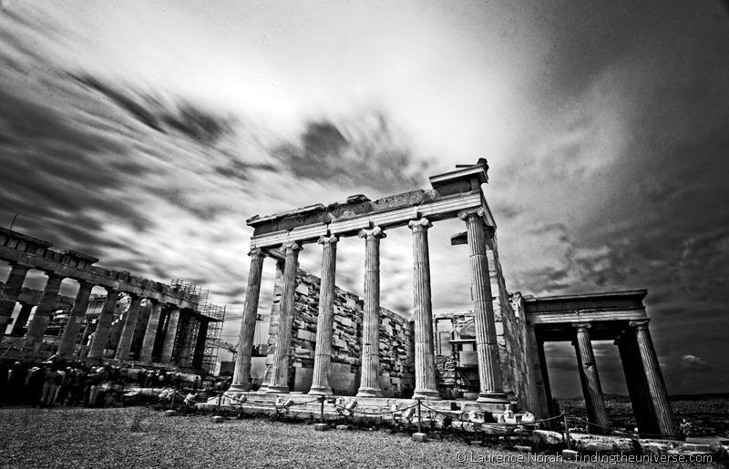 Acropolis black and white Greece