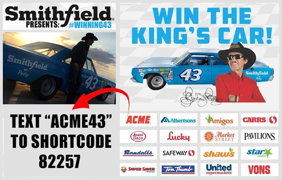Shop at ACME Markets You could WIN TheKings Car in Winning43 pesented