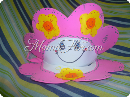 Manualidades para Niñas: Sombrero de Goma Eva