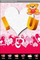 Screenshot of Valentine's Day Greeting