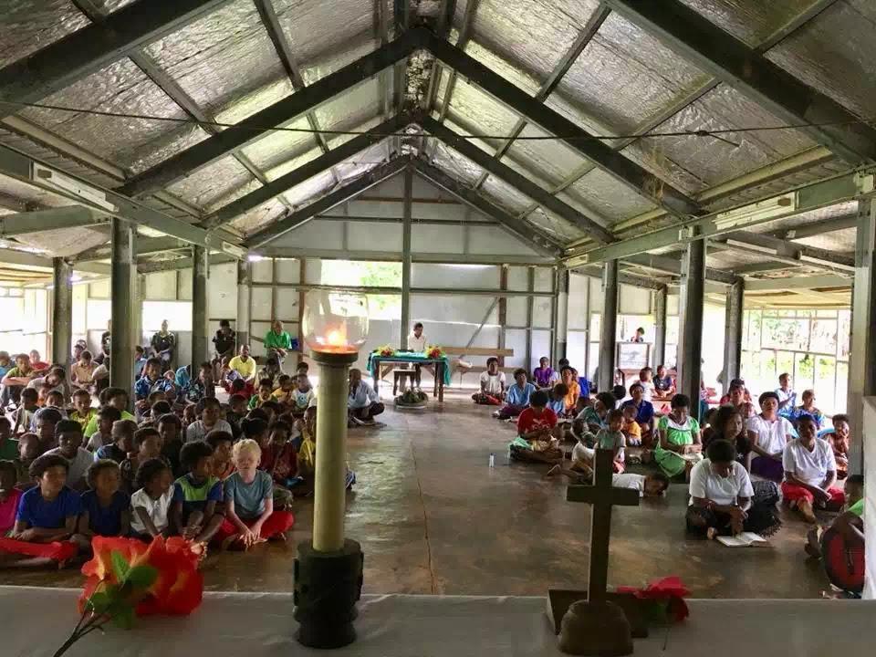 Thánh lễ Mồng Ba Tết tại giáo điểm truyền giáo nơi thầy phó tế Cao Viết Tuấn, tác giả bài viết đang phục vụ.