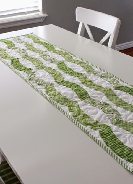 Quick Curve Ruler table runner 3jpg