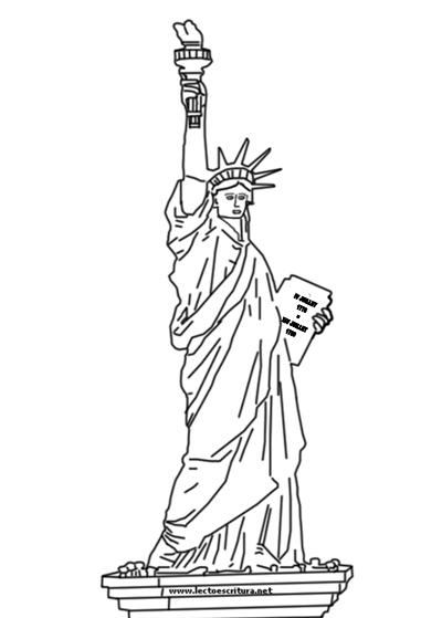 Dibujo Estatua de la libertad – Dibujos para imprimir