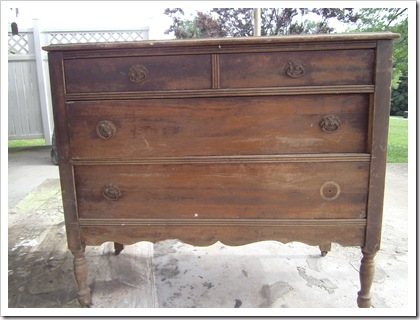 antique furniture finish - black dresser with antiqued paint petticoat junktion project before
