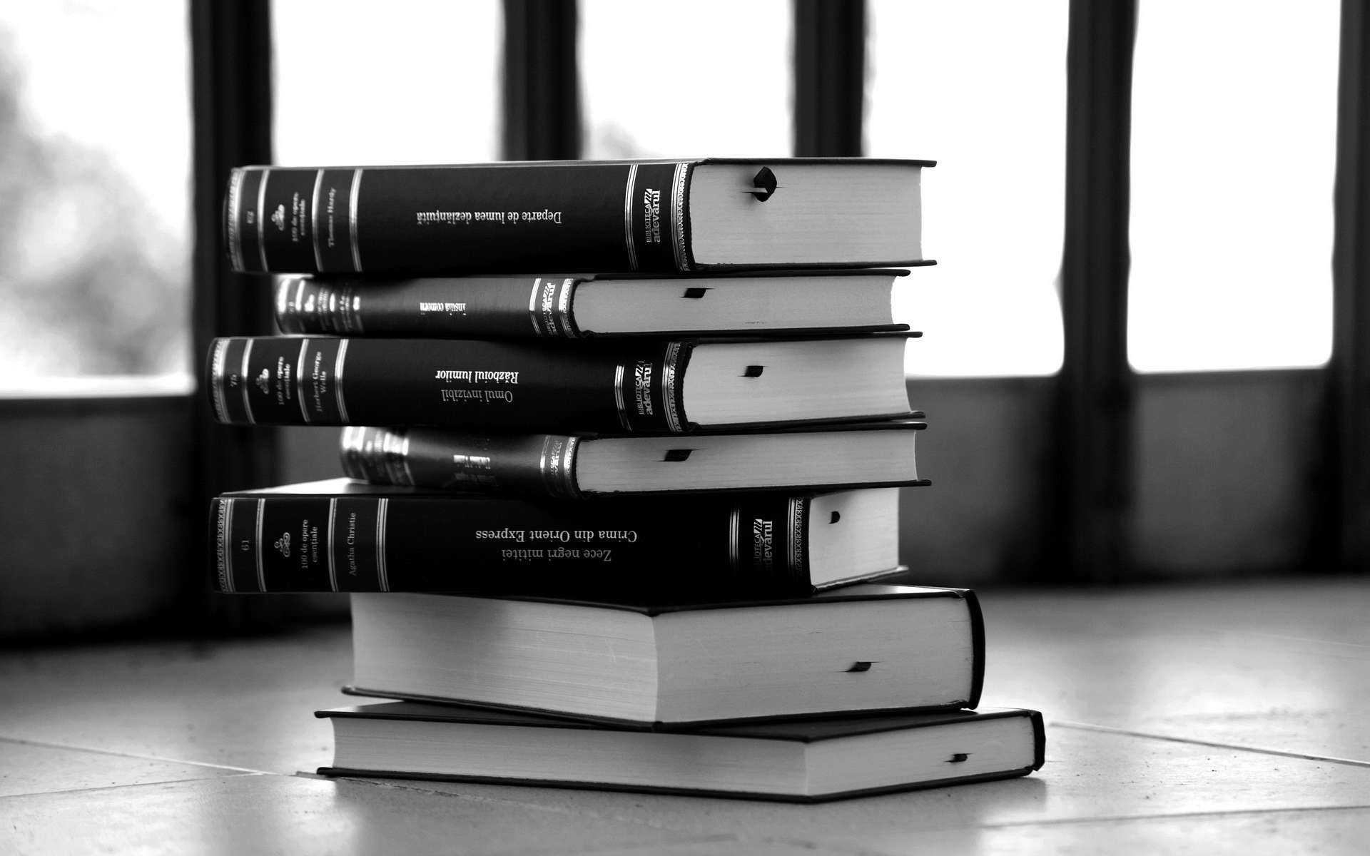 black & white books wallpapers - hd wallpapers