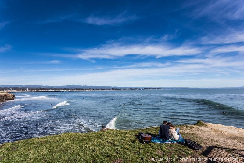 couple love santa cruz surfers california