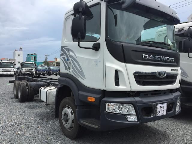 Xe tải Daewoo 3 chân 15,5 tấn thùng kín