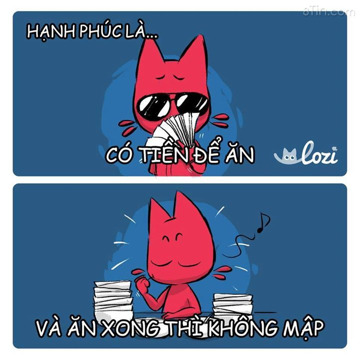 Hạnh phúc của Mèo Béo thật ra rất giản đơn
