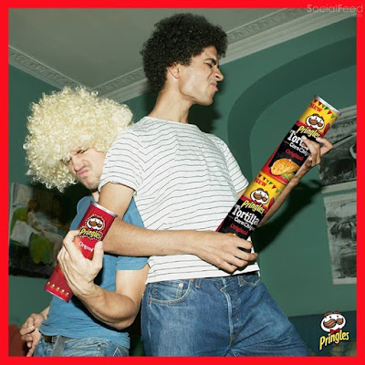 Rockin out with Pringles
