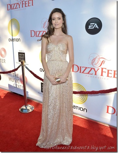 Joss Whedon and Summer Glau at the 2nd Annual Dizzy Feet Foundation's Celebration Of Dance Gala wearin ERIN by Erin Featherston fall 2012