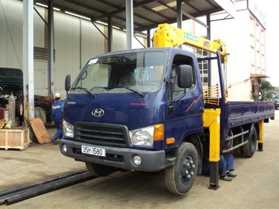 Xe Hyundai 3,5 tấn gắn cẩu SooSan 2 tấn