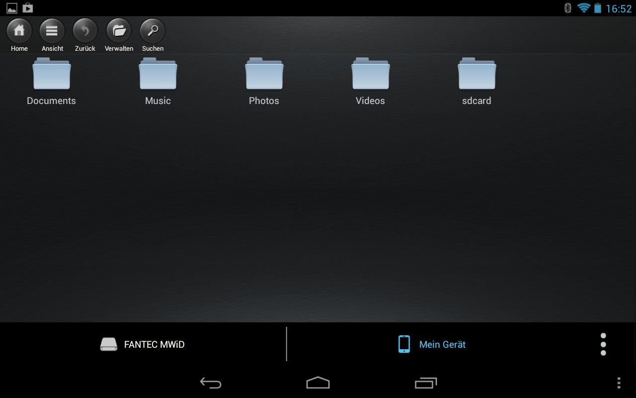 FANTEC MWiD25 Mobile WiFi Disk- screenshot