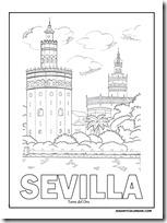 Dibujos Para Colorear De Sevilla Dibujos Colorear