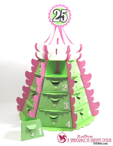 Stack Tree Advent Caledar - Calendario de Adviento - SnapDragon Snippets - Ruthie Lopez. 2