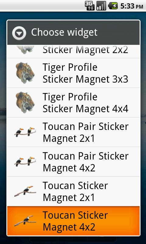 Toucan Stickers - screenshot