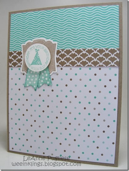 LeAnne Pugliese WeeInklings Stampin Up Fresh Prints Birthday