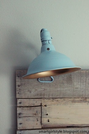 blue clamp reading lamp