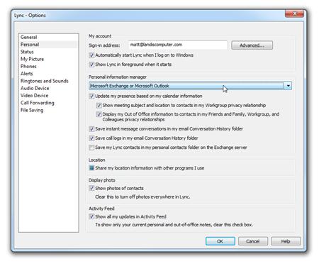 Matt Landis Windows PBX & UC Report: Lync User QuickTip #19