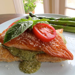 Puff Pastry Salmon with Creamy Pesto