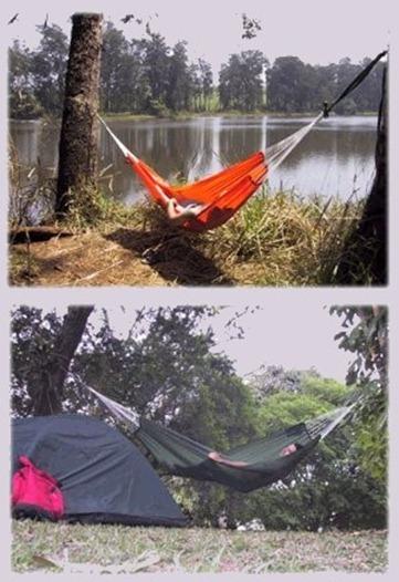 rede para dormir camping