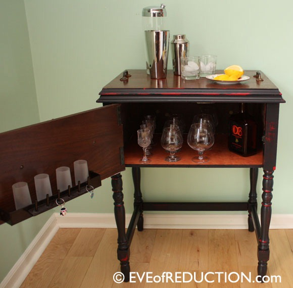 DIY beverage bar table