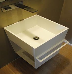 diseño mueble blanco baño