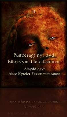 Alice Kyteler Excommunication Cover