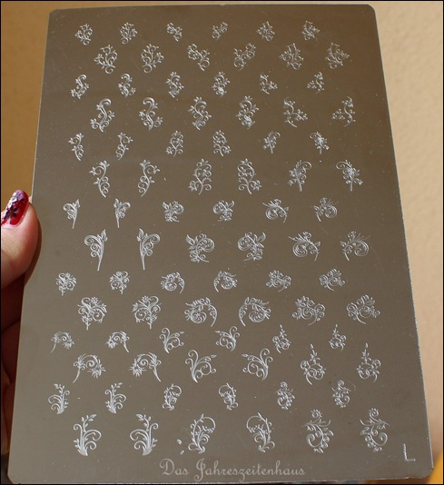 Nailways Stamping Schablone XL Plate L