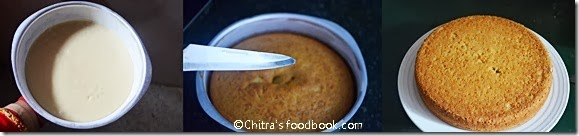 eggless sponge cake recipe step by step