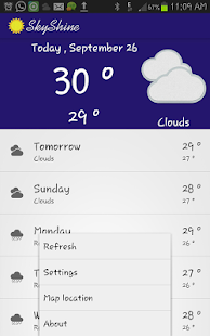SkyShine-Weather Forecasting- screenshot thumbnail