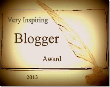 Immagine del logo del premio very inspiring blogger award 2013
