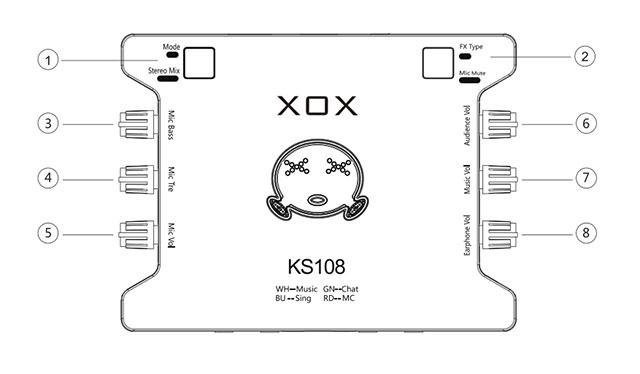 XOX K10 - XOX KS108