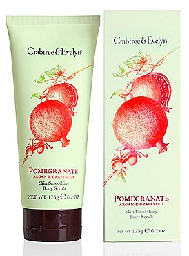 Crabtre & Evelyn Pomgranate, Argan & Grapeseed Body Care  Skin Smoothing Body Scrub (175g, $45)