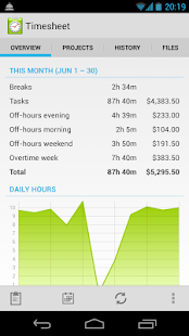 Timesheet - work time tracker- screenshot thumbnail