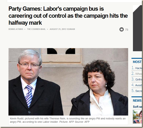 Party Games- Labor's campaign bus is careering out of control as the campaign hits the halfway mark - The Courier-Mail