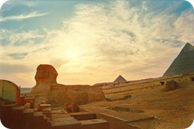 sphinx-and-pyramids-at-sunset