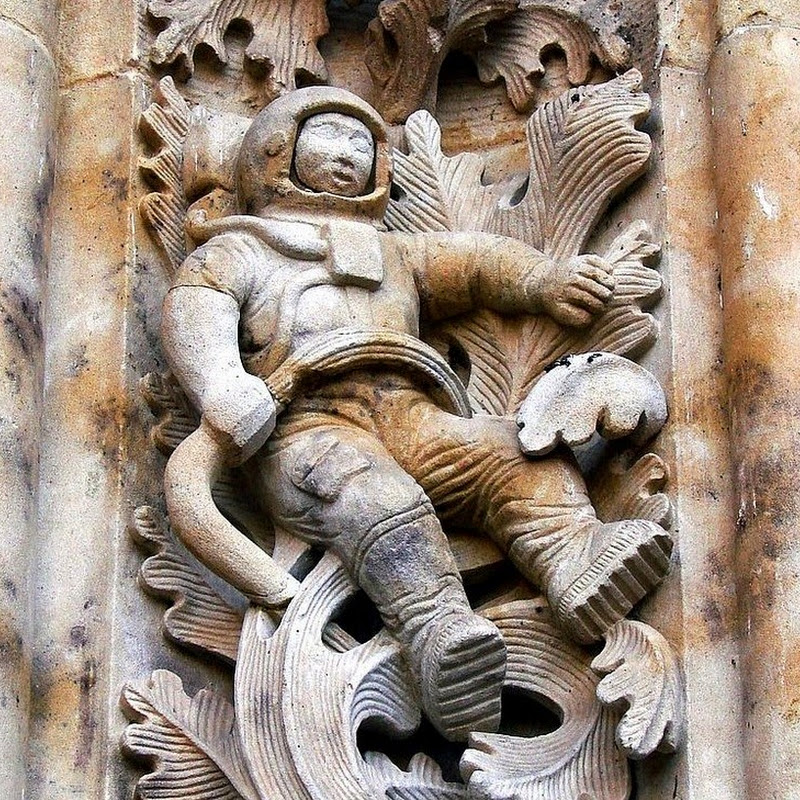 The Cathedral of Salamanca's Astronaut