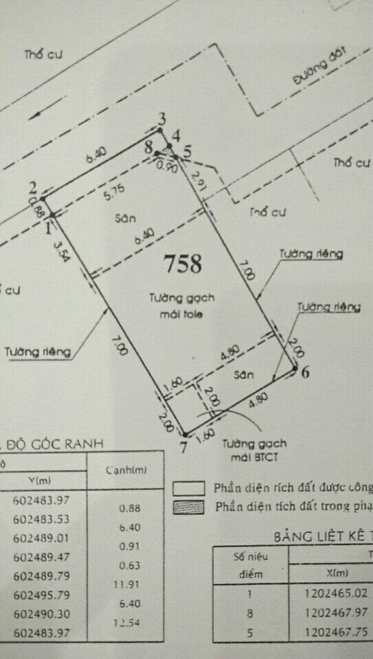 Nhà phố hẻm một sẹc Thạnh Lộc 29 Quận 12 - 016