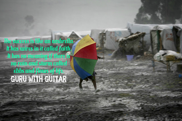 success_umbrella_faith_storm_quote_guru_with_guitar_vikrmn_tune_play_repeat_chartered_accountant_ca_author_srishti_vikram_verma_tpr