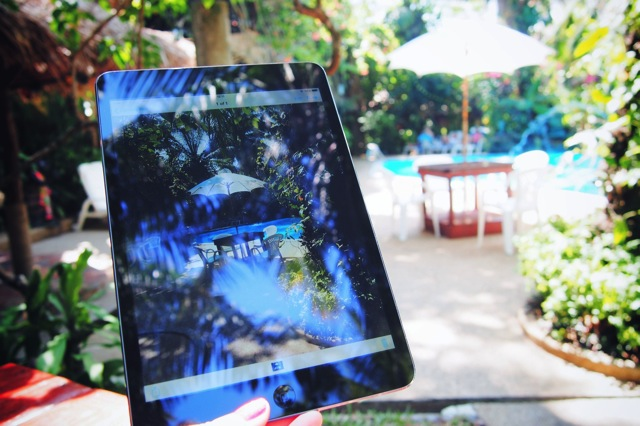ipad by pool